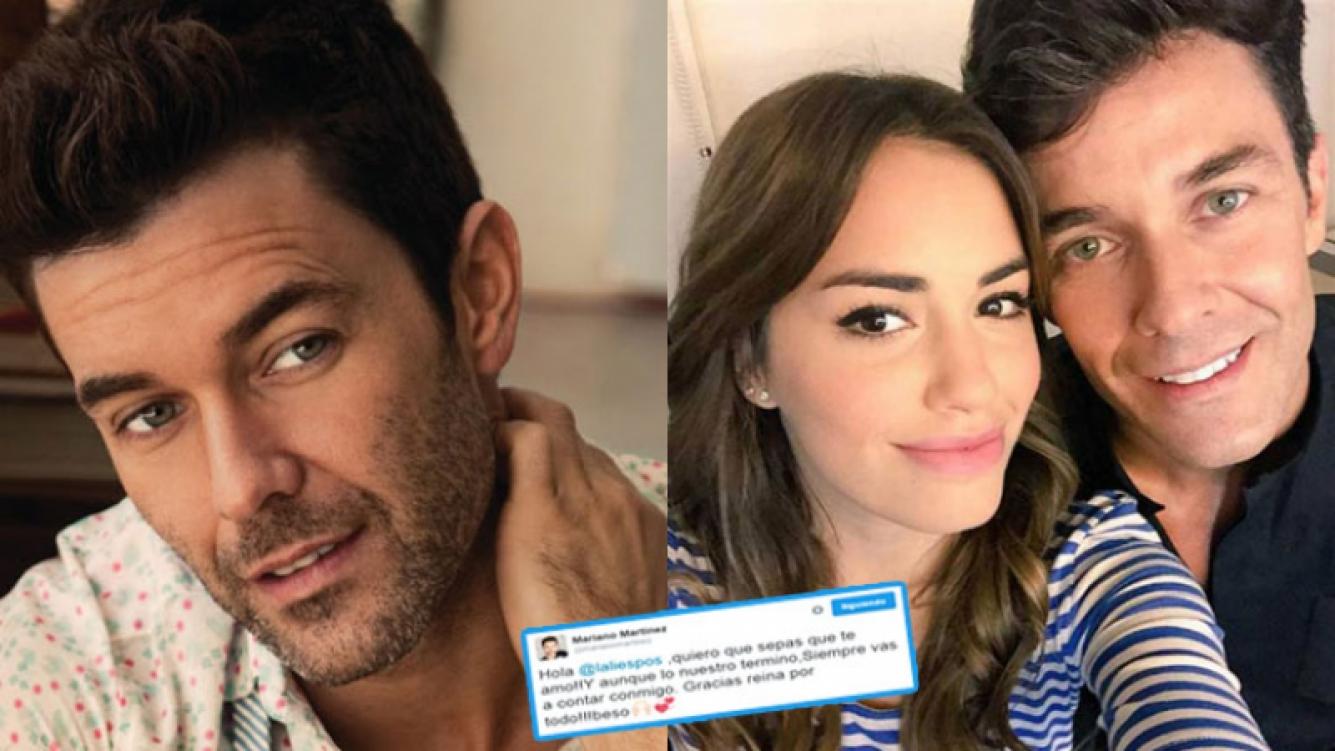 Mariano Martínez y su sorpresivo tweet para Lali Espósito (Fotos: Web).