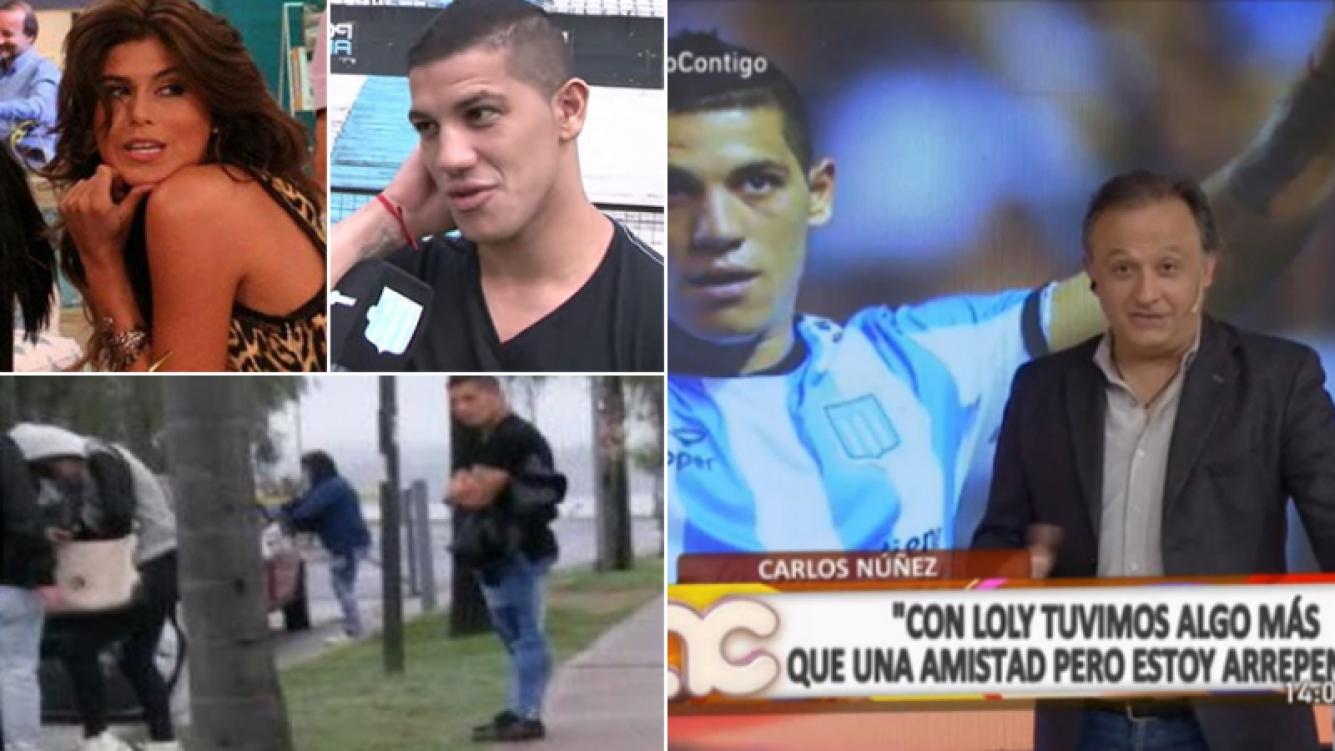 Carlos Núñez contó que tuvo una relación con Loly Antoniale y ella respondió furiosa. Fotos: Web, Monte Carlo TV y @anti_boti
