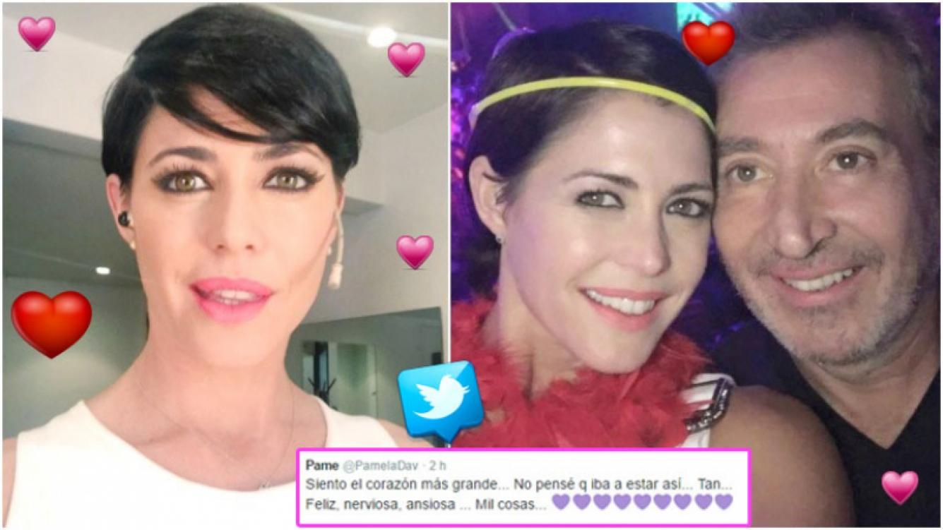 La emoción de Pamela David, a horas de su casamiento con Daniel Vila (Fotos: Twitter)