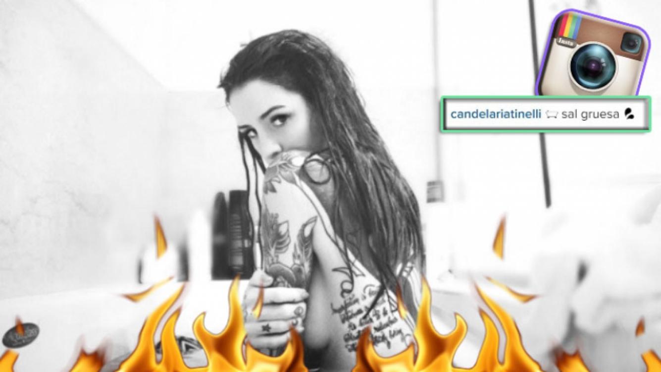 Candelaria Tinelli levantó la temperatura en Instagram con una foto desnuda en la bañera (Foto: Instagram)