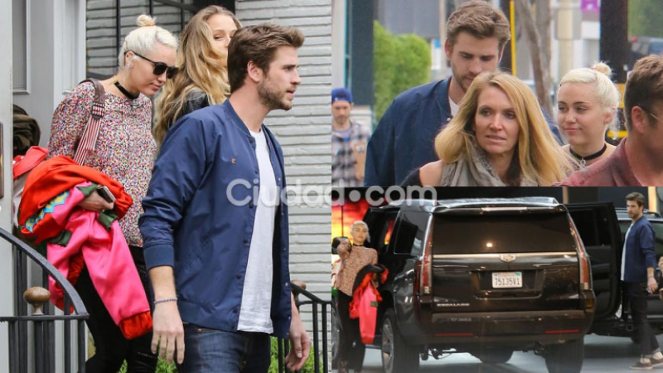 Miley Cyrus y Liam Hemsworth, juntos nuevamente (Fotos: GrosbyGroup).