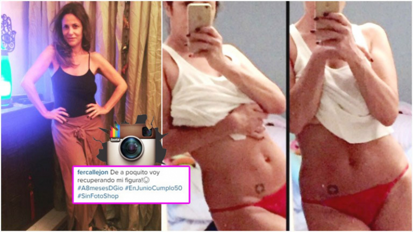 El lomazo de Fernanda Callejón, a 8 meses de haber dado a luz (Fotos: Instagram)