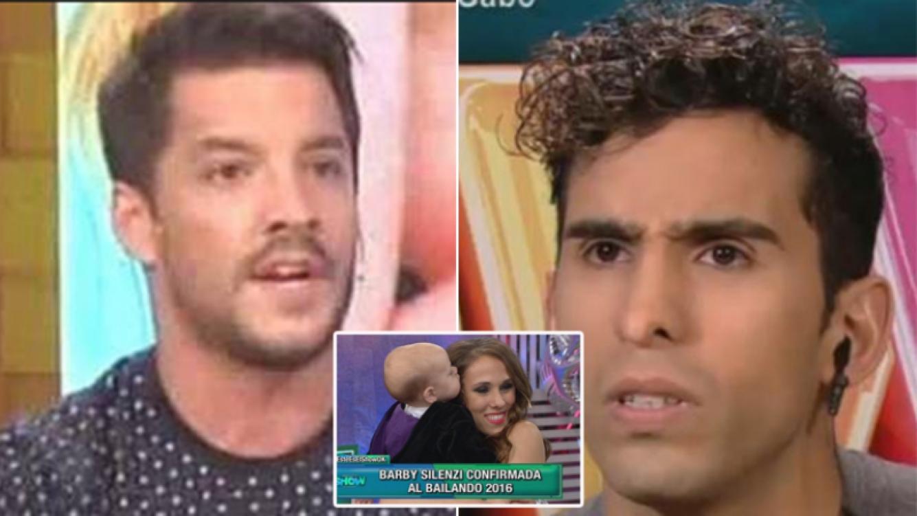 El duro cruce de Francisco Delgado con Gabo Usandivaras por Barby Silenzi. Fotos: Capturas TV.
