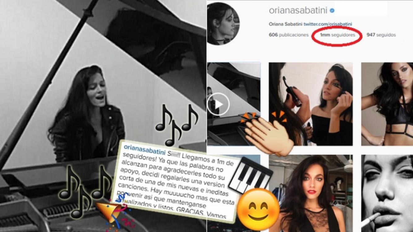 Oriana Sabatini llegó al millón en Instagram (Foto: Instagram)