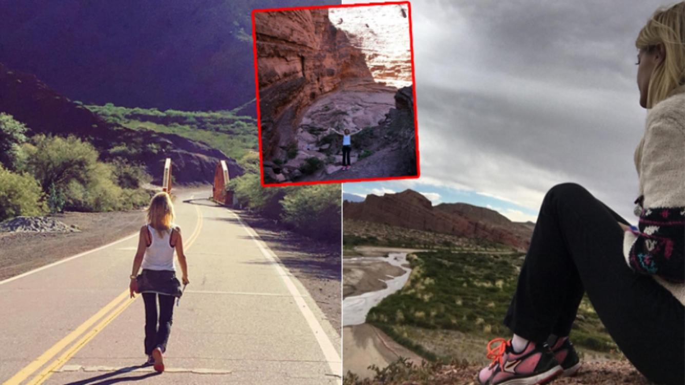 Las postales de Eugenia Tobal en Salta (Fotos: Instagram)