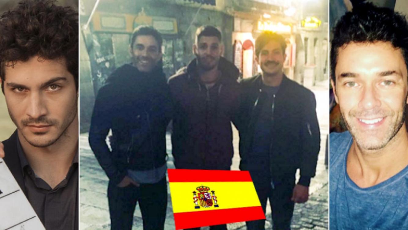 Mariano Martínez y el Chino Darín en la noche madrileña. (Foto: Instagram)