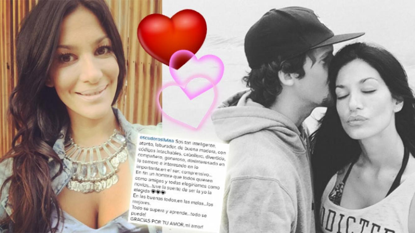 La romántica dedicatoria de Silvina Escudero a su novio economista. (Foto: Instagram)