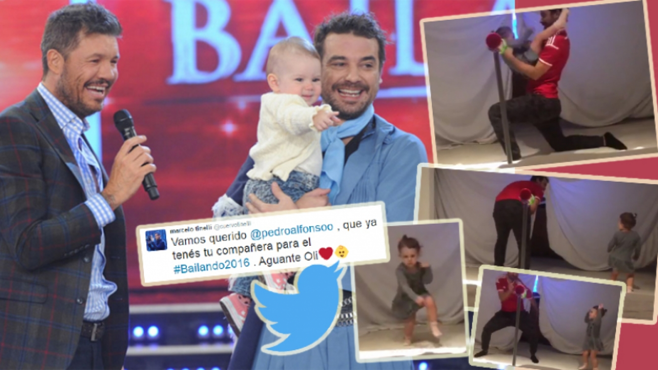 Marcelo Tinelli publicó un video de Pedro Alfonso bailando con Olivia (Foto: Web y Twitter)