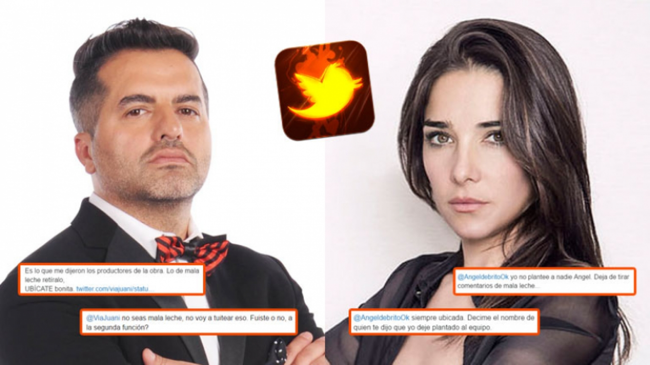 Ángel de Brito y Juana Viale, enfrentados en Twitter (Fotos: Web).