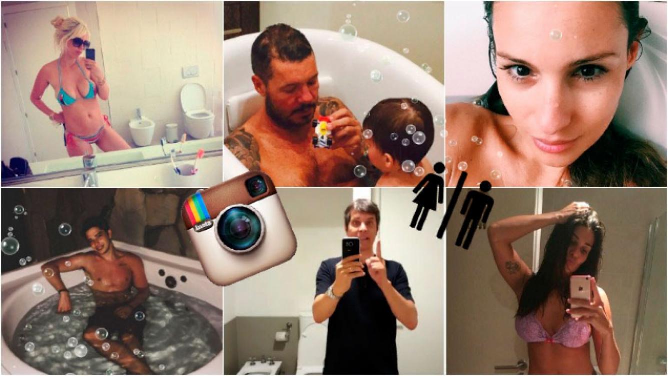 """Las fotos """"instagrameras"""" de los famosos en el baño. Foto: Instagram"""