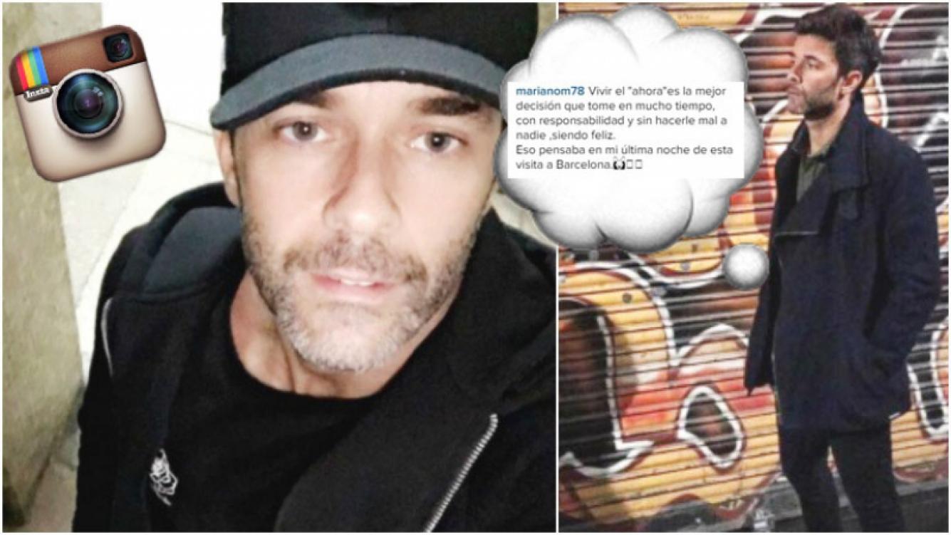 La reflexión de Mariano Martínez que escribió en su cuenta de Instagram (Fotos: Instagram)