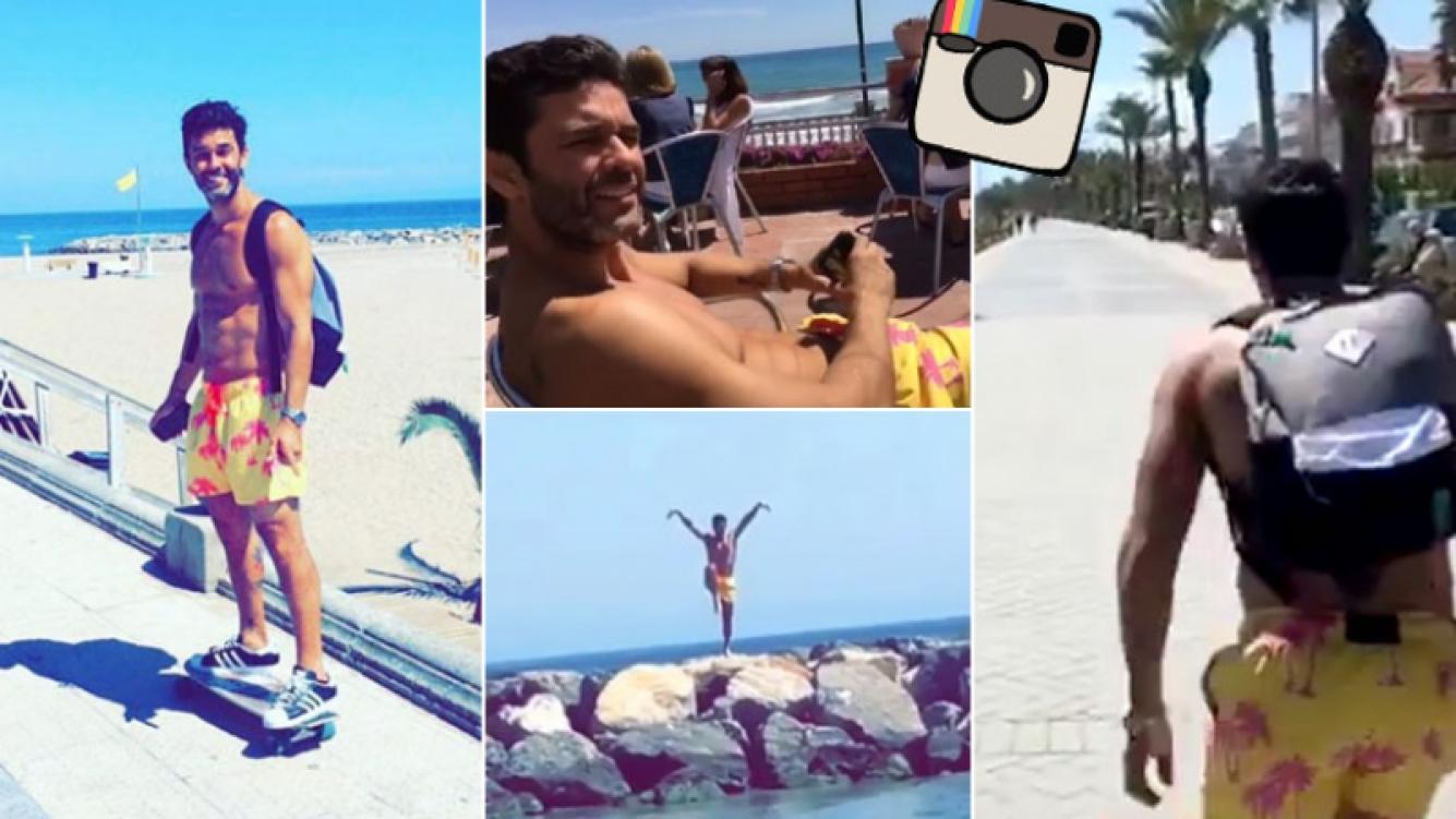 La foto hot de Mariano Martínez en España. Foto: Instagram
