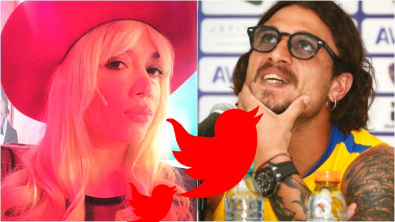 "Militta Bora y un ""palito"" para Daniel Osvaldo. Foto: Instagram/ Web"