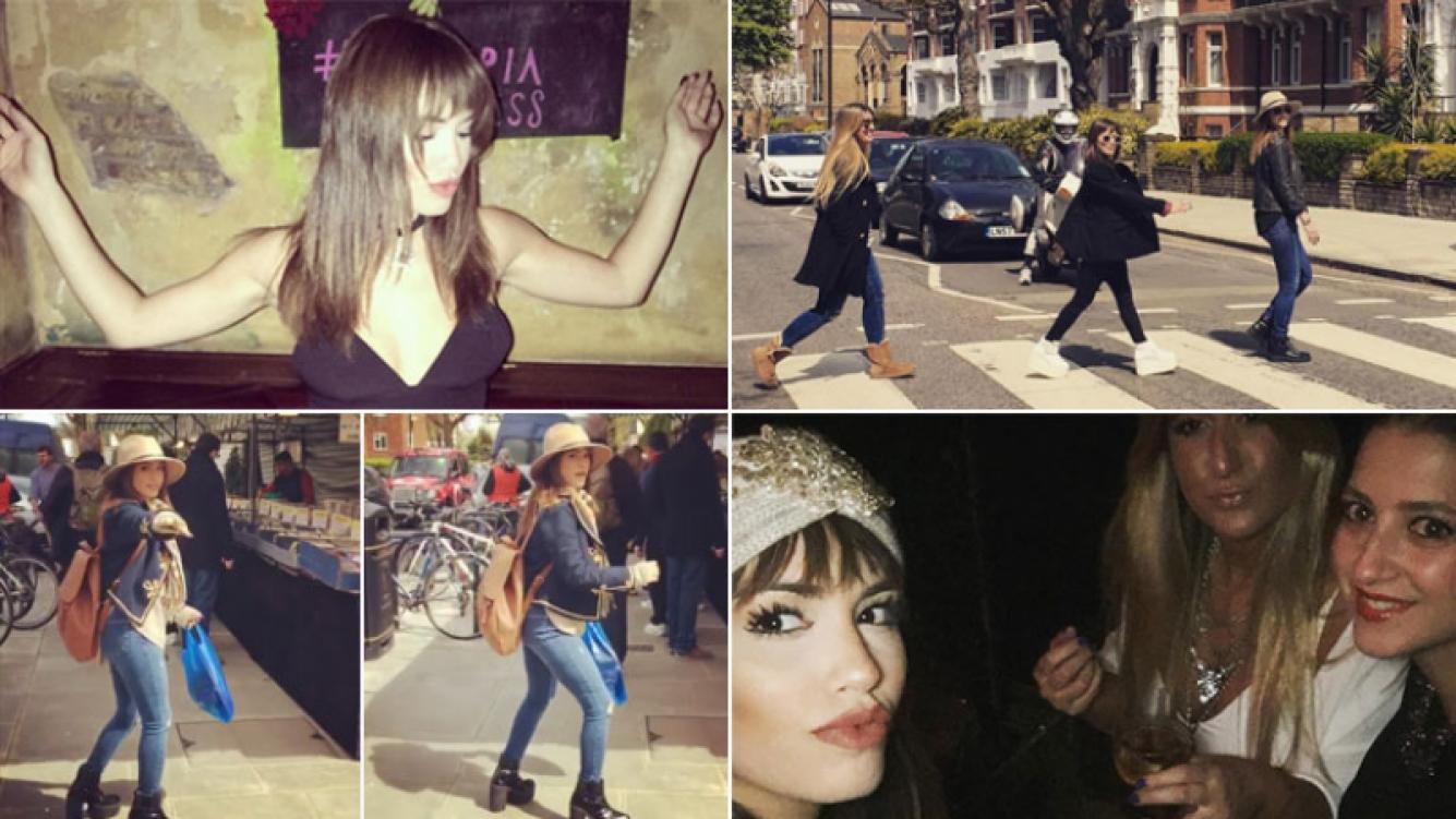 Lali Espósito y sus vacaciones en Londres. (Fotos: Instagram)