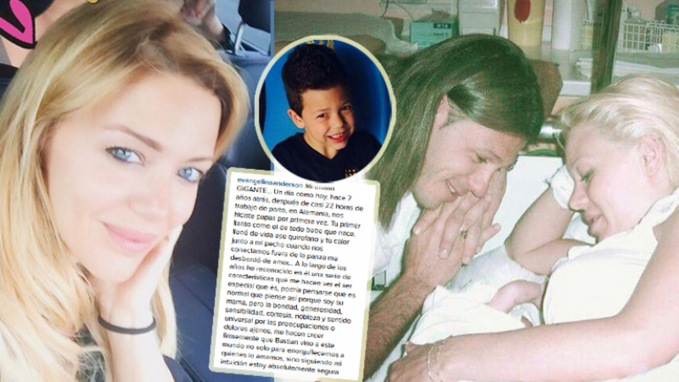 La emotiva carta de Evangelina Anderson a su hijo Bastian por su cumpleaños (Foto: Instagram)
