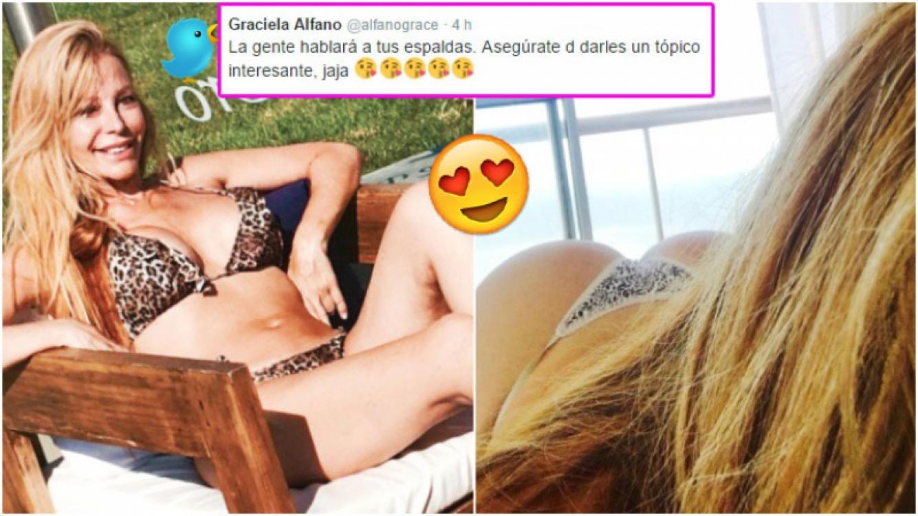 Graciela Alfano desafió las críticas con una foto súper hot (Fotos: Twitter)