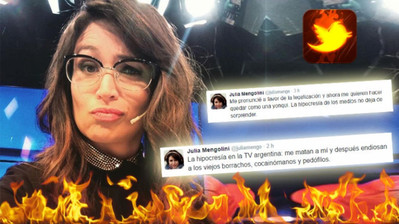Los rabiosos tweets de Mengolini, tras las críticas por su declaración sobre las drogas. (Foto: Web)