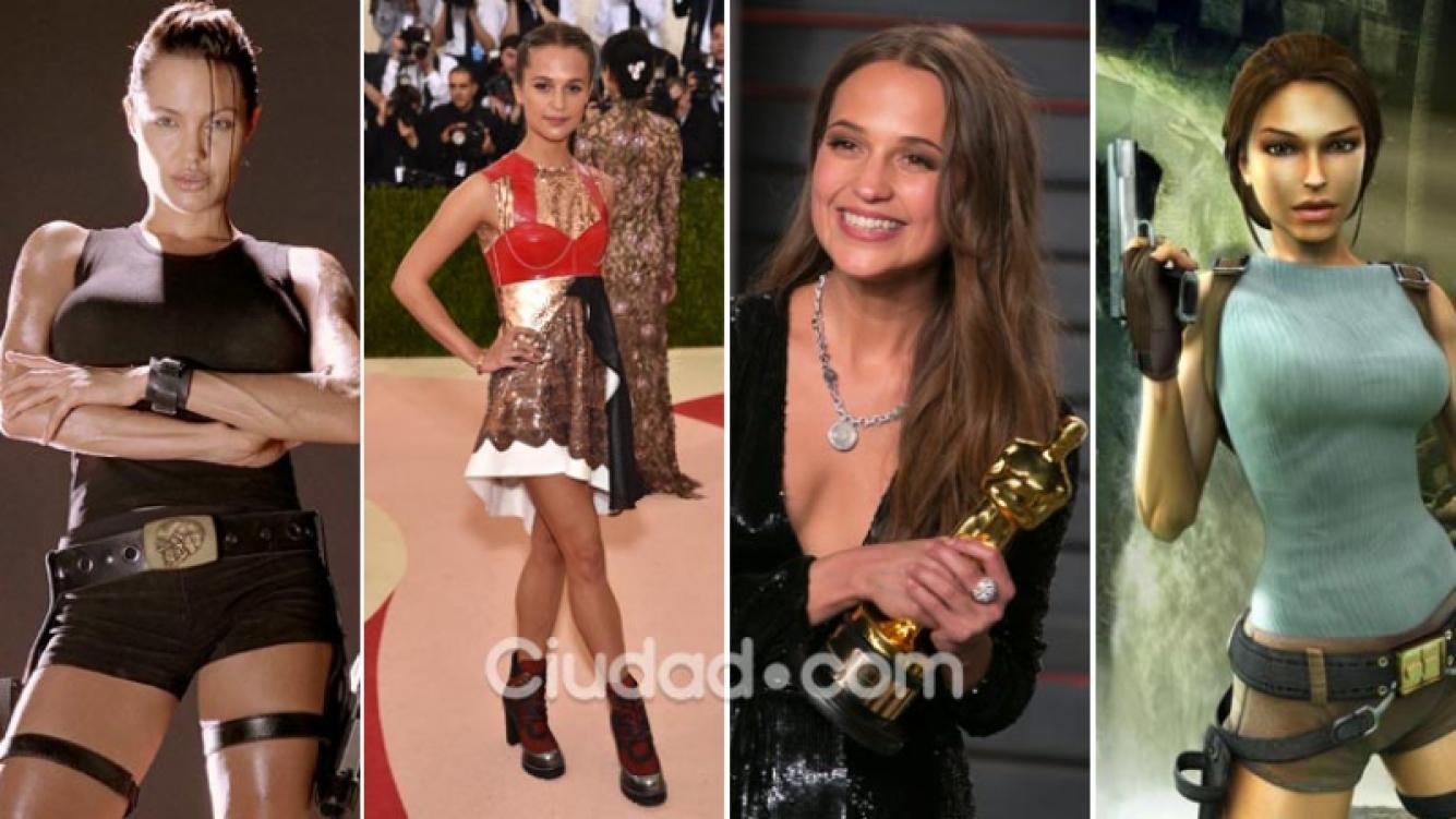 Alicia Vikander reemplazará a Angelina Jolie y será la nueva Lara Croft. (Foto: Web y AFP)