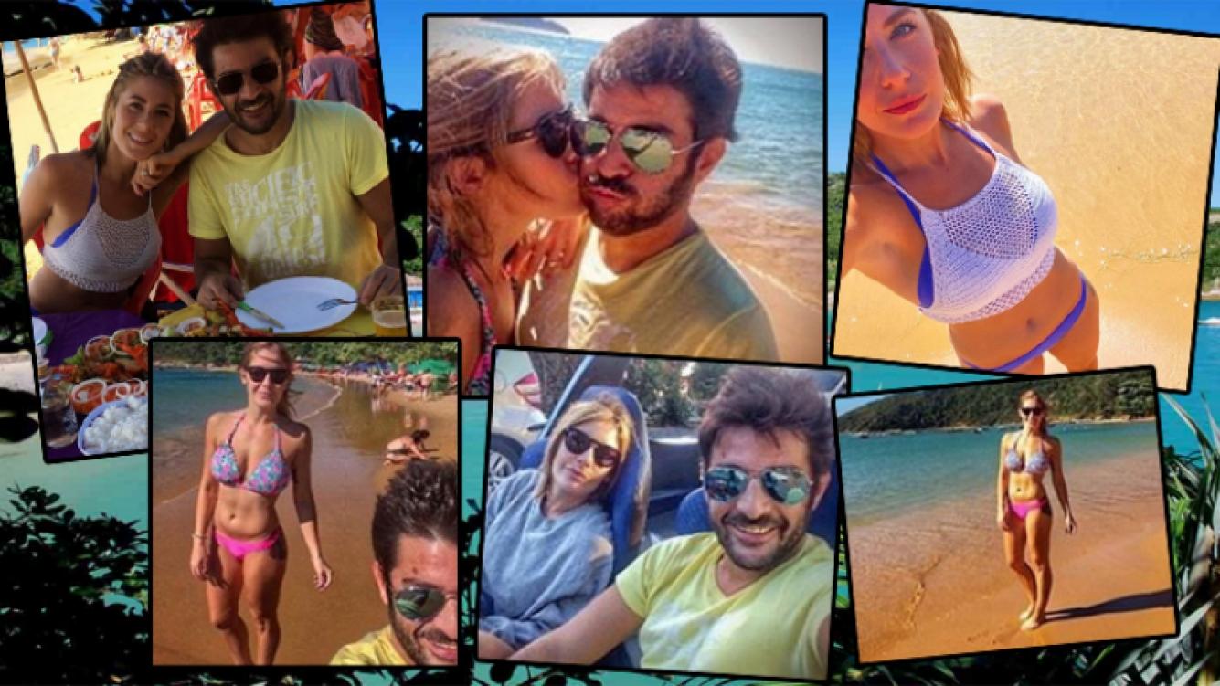 Las vacaciones de Pablo Rago y Andrea López en Brasil (Foto: Instagram)