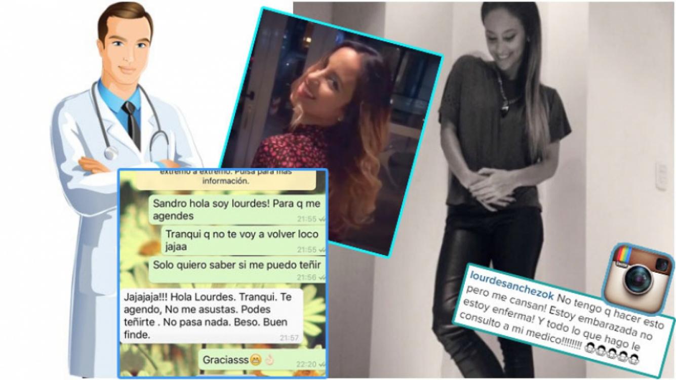 El chat que publicó Lourdes Sánchez con su médico tras las críticas por teñirse el pelo (Fotos: Web e Instagram)