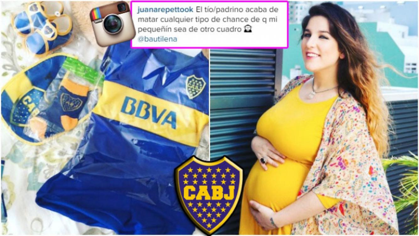 El hijo de Juana Repetto ya tiene cuadro de fútbol (Fotos: Instagram y Web)