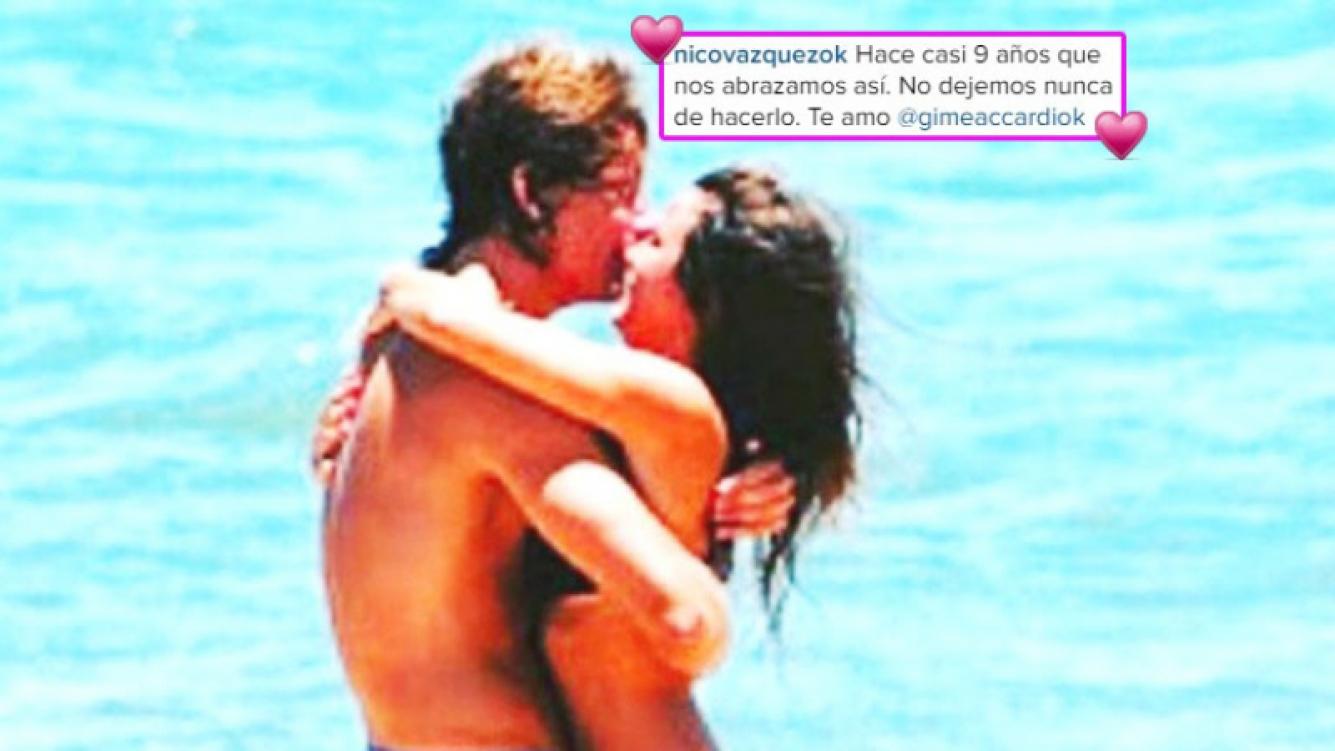 El mensaje de amor de Nico Vázquez a Gimena Accardi por sus 9 años de relación (Foto: Instagram)
