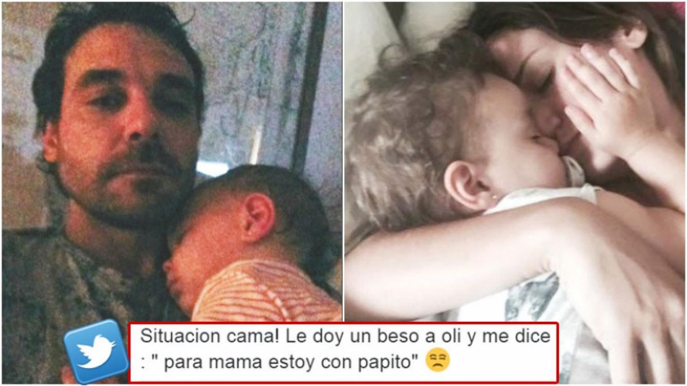 La divertida respuesta de Olivia Alfonso cuando Paula Chaves le dio un beso (Fotos: Web y Twitter)