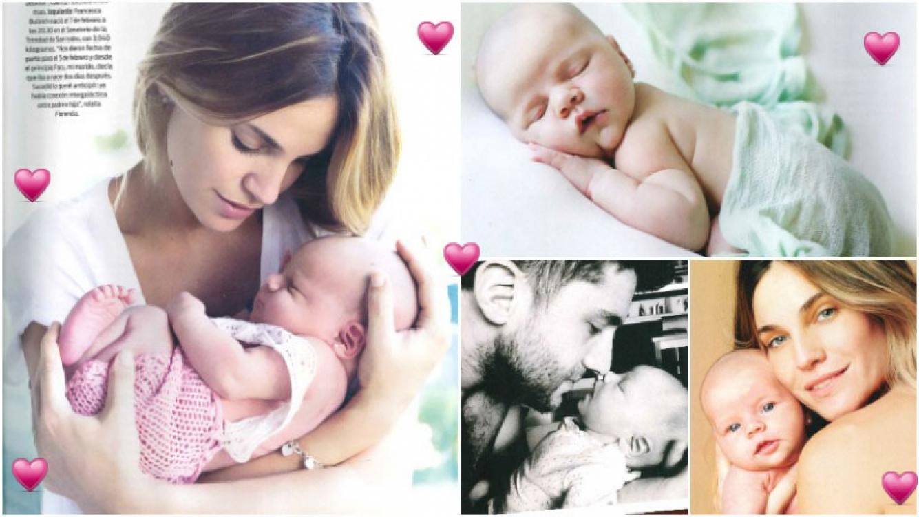 Florencia Fabiano presentó a su beba Francesca, de 3 meses (Fotos: revista ¡Hola! Argentina)