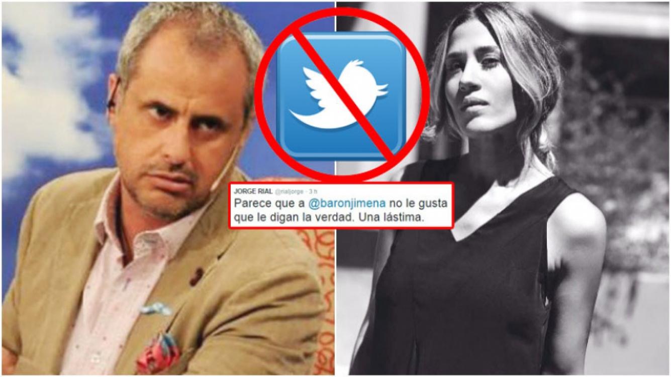 Jimena Barón bloqueó a Jorge Rial en Twitter (Fotos: Web e Instagram)