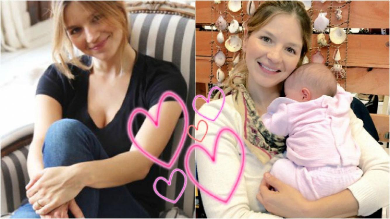 La primera foto de Marcela Kloosterboer con su hija Juana. Foto: Twitter