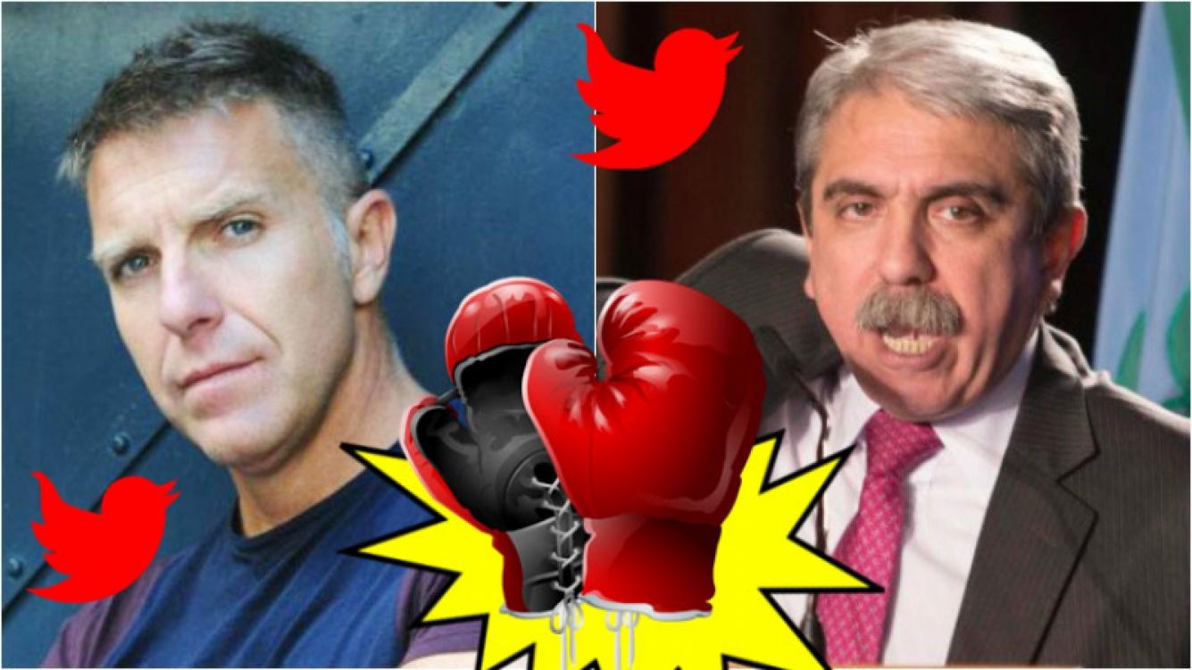 El duro cruce de Aníbal Fernández y Alejandro Fantino en Twitter. Foto: Web