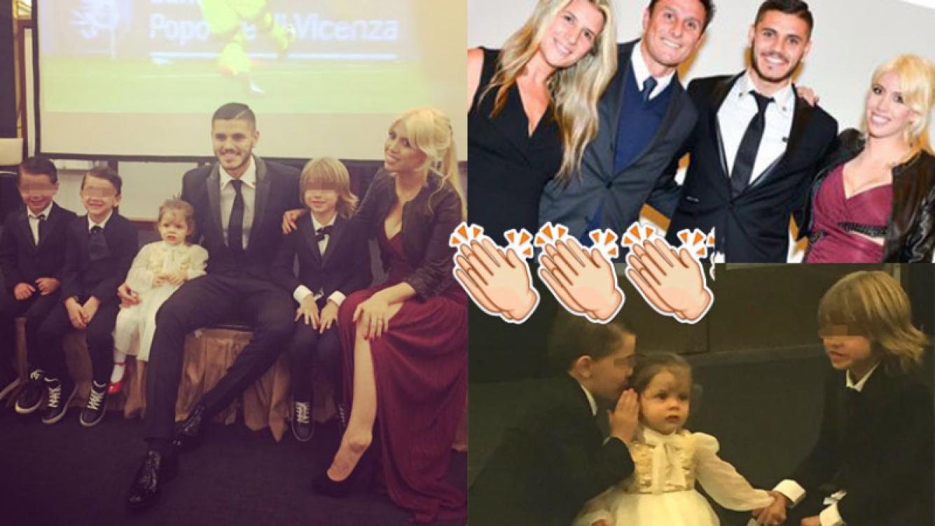 Mauro Icardi y Wanda Nara encabezaron la gala con su familia (Fotos: Instagram).