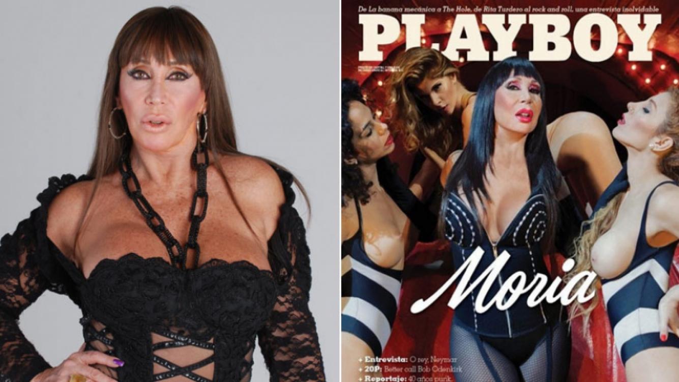 Moria Casán, una diva provocadora en la tapa de Playboy. Foto: Web y revista Playboy