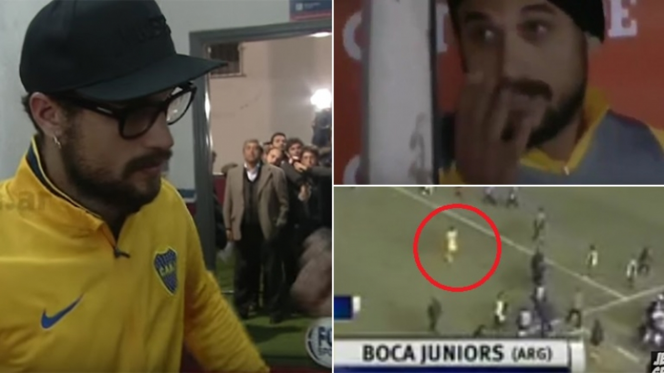 A Daniel Osvaldo le rescindieron su contrato en Boca. Fotos: Capturas TV.