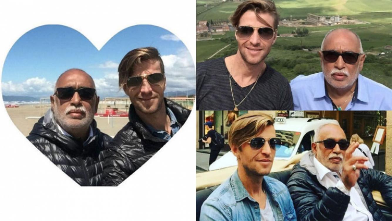 González Oro, enamorado en Europa junto a su novio Tato (Fotos: Instagram).
