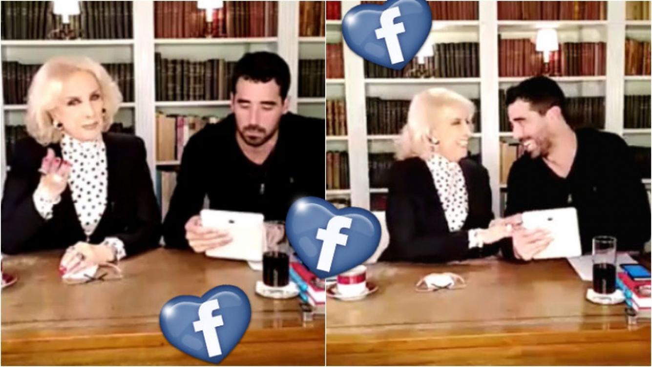 Mirtha Legrand debutó en Facebook Live. Foto: Captura