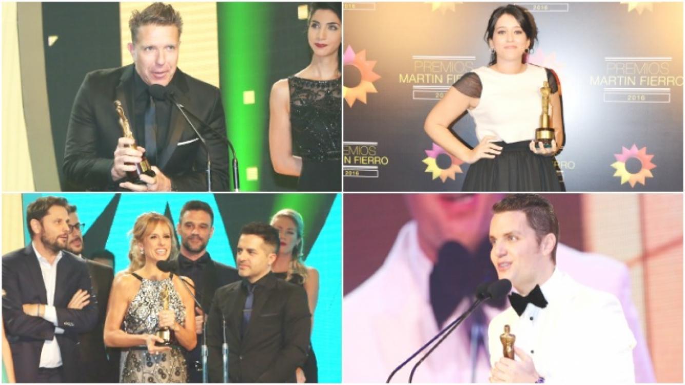 Los grandes ganadores a los Martín Fierro 2016 (Fotos: Prensa El Trece)