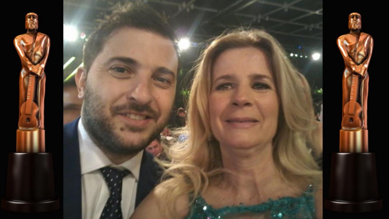"""¡Reconciliados! Brancatelli y Ninci cerraron """"la grieta"""" en los Martín Fierro. Foto: Twitter"""