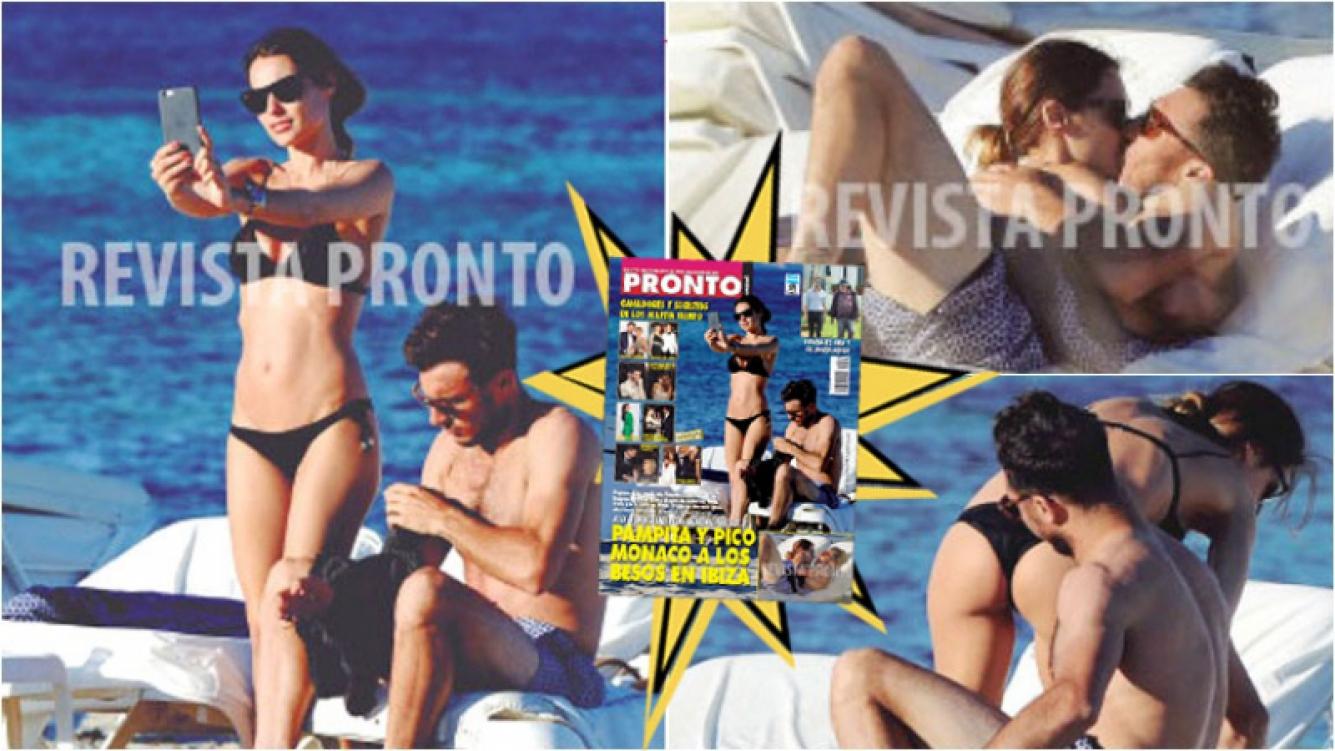 Las fotos de Pampita y Pico Mónaco: besos, mimos y playa. Foto: Revista Pronto