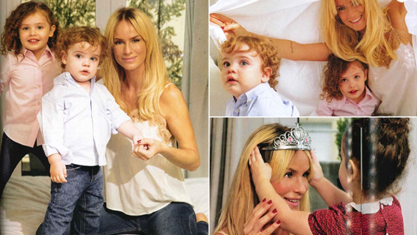 Sabrina Rojas posó por primera vez con sus hijos (Fotos: Revista ¡Hola! Argentina).