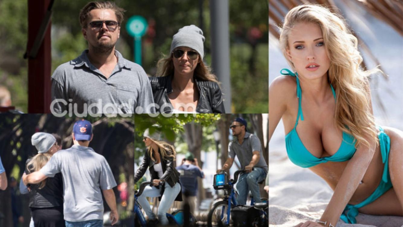 Leonardo DiCaprio y su nueva novia Ela Kawalec (Fotos: GrosbyGroup y Web).