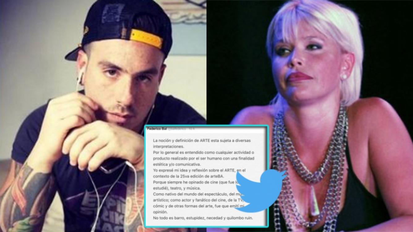 La respuesta de Fede Bal tras el picante tweet de Nazarena Vélez. Fotos: Twitter y Web.