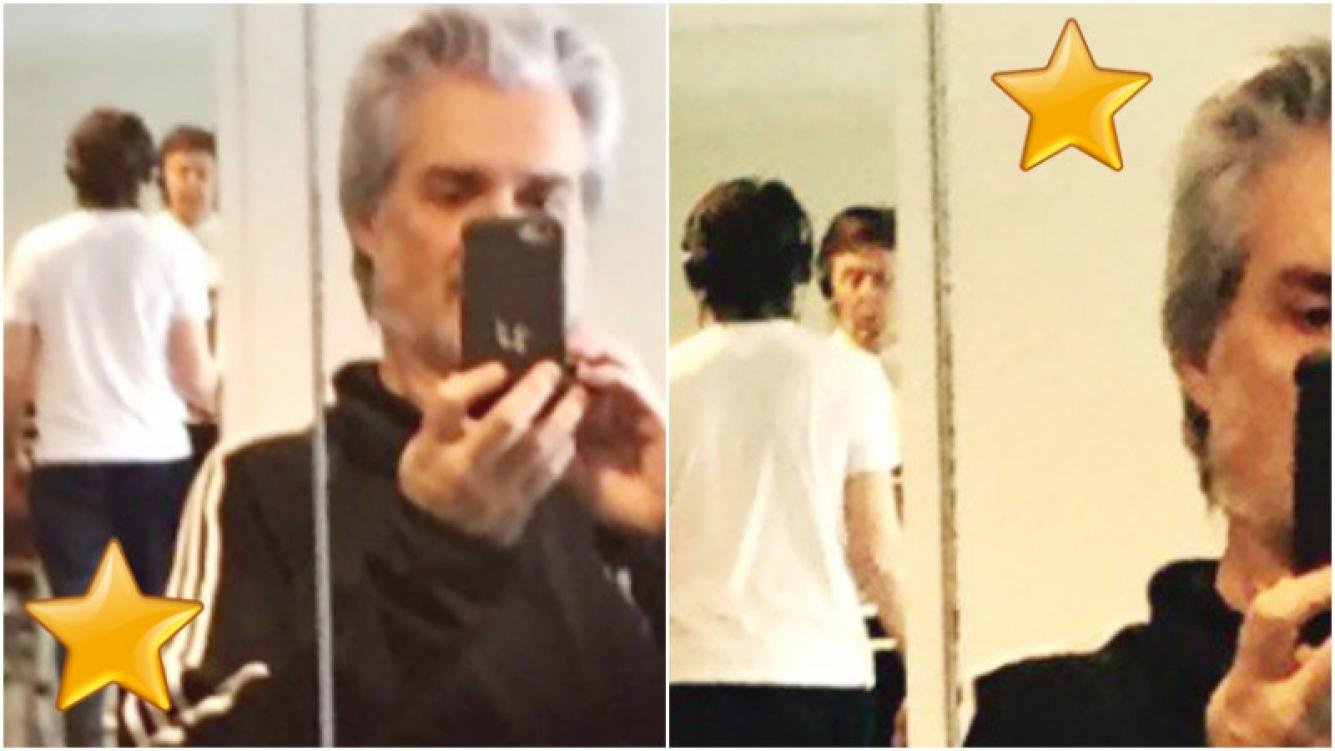 Paul McCartney y Roberto Pettinato, en el mismo gym (Fotos: Twitter)