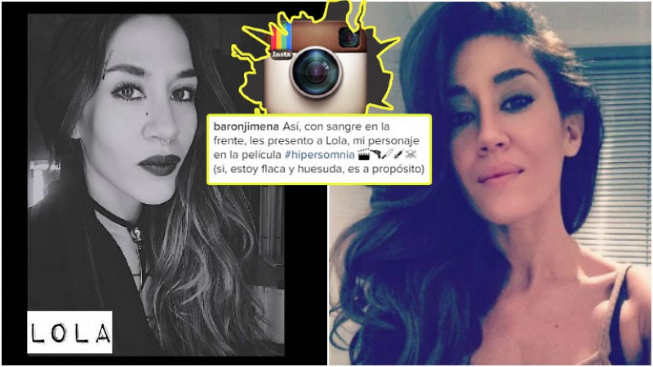 El look de Jimena Barón para su nueva película (Fotos: Instagram)