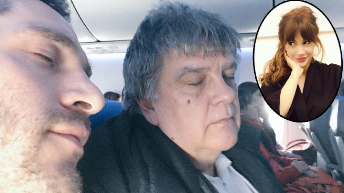 Michel Noher y un desopilante tweet arriba del avión (Foto: Twitter e Instagram)