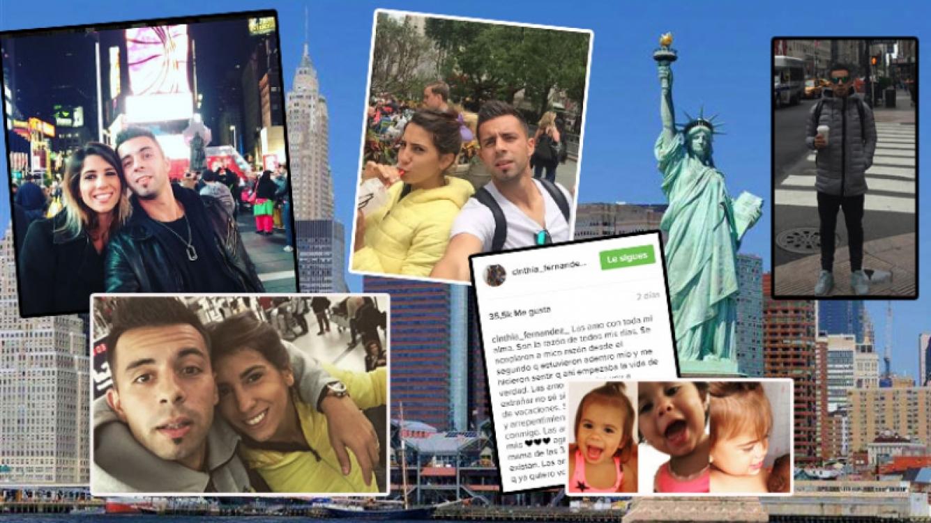 Cinthia Fernández y Matías Defederico, enamorados en Nueva York (Fotos: Instagram).