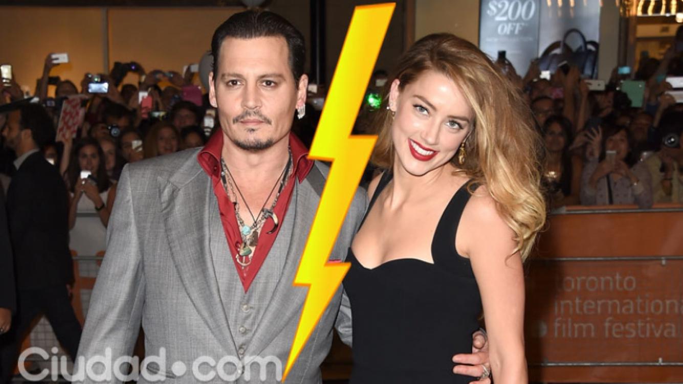 Johnny Depp y Amber Heard se divorcian tras 15 meses de matrimonio (Fotos: AFP).