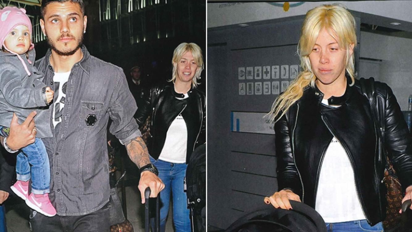 Wanda Nara y Mauro Icardi antes de viajar a Miami. Fotos: revista Caras.