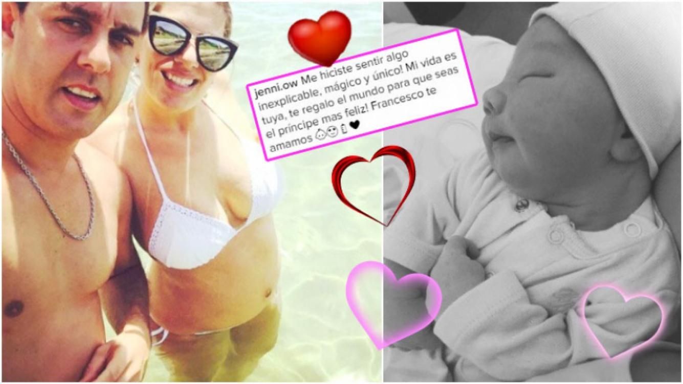 Jenny de Cuestión de Peso dio a luz a su Francesco, su primer hijo (Fotos: Instagram)