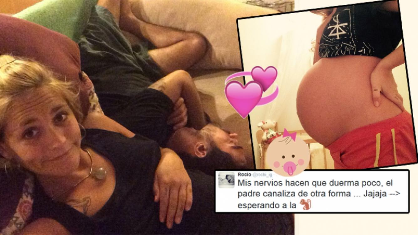 Rochi Igarzabal, a días de ser mamá. Foto: Twitter.